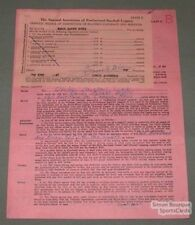 1947 Quebec Alouettes James Botti Signed Contract