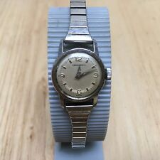 Vintage H. Bockstruck Swiss Lady Silver Hand-Winding Mechanical Watch Hours~Runs