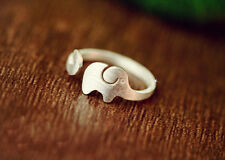 30% Siver Platinum plated brass Free Size Knuckle Ring Stackable Elephant ring