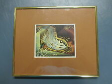 Framed and Matted Salvador Dali Melting Watch Print 10 x 12 inches with Frame