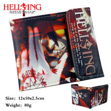 HELLSING Anime PU short wallet with colorful printing Vampire Alucard Victoria