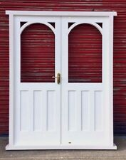 Timber Wooden Hardwood Arched French Doors! Vintage!!! Made to measure! Bespoke!
