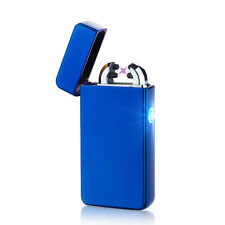Blue Double Arc Light USB Electronic Rechargeable Battery Cigarette Lighter
