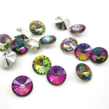 DIY 20PCS 12MM size Round sharp crystal for DIY crafts NEW Plated colors SP69
