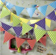 ♛ Shop8 : 1 pc Polka Dot Banderitas Banner Theme Party Decor Needs Gift Ideas