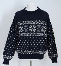 MENS CAPHORN JUMPER 100 % WOOL NORDIC FAIR ISLE NAVY SIZE L LARGE EXCELLENT
