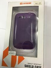 HTC Wildfire S Extreme TPU Shield Flexi Case in Purple XC-TPHTCWSPU. Brand New.