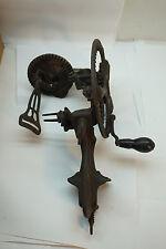 ANTIQUE APPLE PEELER CAST IRON HAND CRANK WHEELS GEARS TABLE CLAMP KITCHEN
