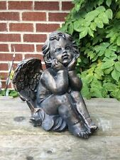 Winged Cherub Statue Latex ONLY Garden Ornament Mould/Mold (CHERUB3)