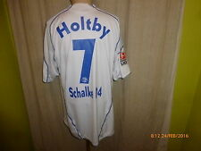 "FC schalke 04 Adidas dehors maillot 2009/10 ""Gazprom"" + Nº 7 Holtby taille xl top"