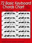 72 Basic Keyboard Chords Chart - Piano Chords - NEW 000315115