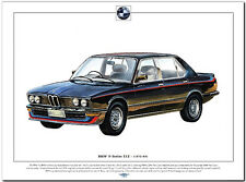BMW 5 SERIES  E12 (1972-85) - Fine Art Print A3 size - German saloon car picture