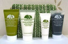 Origins Mask Set - Drink Up Overnight, Clear Improvement, Scrub & Cleanser - New