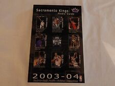 Sacramento Kings 2003-04 MEDIA GUIDE! NEW! NEVER OPENED!!