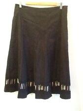 Gorgeous Sz 12 Yvonne Black Full Skirt Designer