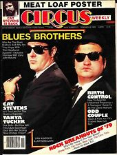 Circus Weekly February 20 1979 #211 MEAT LOAF Poster Blues Brothers Cat Stevens