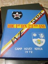 US Army Camp Hovey Korea 1972 Yearbook HHC 1st BN 23rd INF RGMT 23rd Infantry