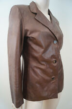 SCHEGGE Roma Firenze Women's Chocolate Brown Leather Jacket Sz:M
