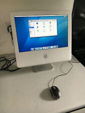 "Apple iMac 17"" Desktop WORKING 160 GB HDD 1.8GHZ 1.25GB RAM WIFI TIGER CHEAP"