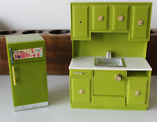 VINTAGE LOUIS MARX AND CO. DOLL FURNITURE KITCHEN FURNITURE
