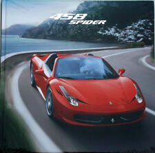 Authentic Ferrari 458 Spider Hardcover Brochure   95993352