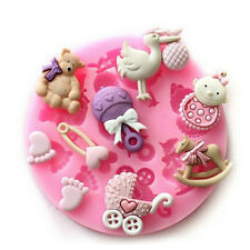 BABY SHOWER Party 3D Silicone Mould Fondant Cake Decorating Topper
