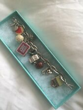 Rare!!!Juicy Couture Silver Charm Bracelet With Locket Velour
