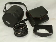 Konica Hexanon AR 28mm F 3.5 with Cases and Lens Hood - Konica Mount