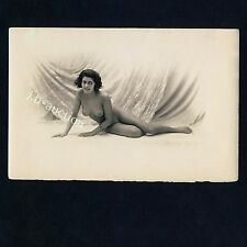 """CHEERY NUDE WOMAN / FRÖHLICHE NACKTE FRAU * Vintage 10s French """"L"""" Risque Photo"""