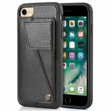 Apple iPhone 7 Wallet Leather Case ID Credit Card Holder Protective Cover 4.7""