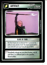 STAR TREK CCG Q CONTINUUM RARE CARD BLADE OF TKON