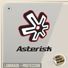 PEGATINA ASTERISK KNEE BRACES MOTOCROSS STICKER AUFKLEBER AUTOCOLLANT