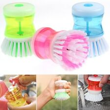 HOT HAND PALM WASHING UP DISH BRUSH PLATE DISHES SCRUBBER LIQUID SOAP DISPENSER
