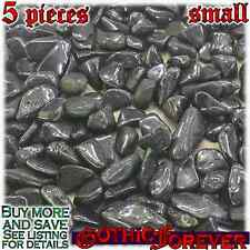 5 Small 10mm Free Ship Tumbled Gem Stone Crystal Natural - Lodestone