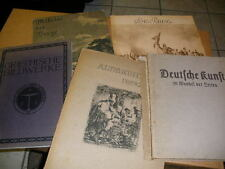 5 antiquarische Bücher Kunst etc.