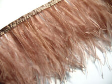 F120 PER 30cm-Light Brown Ostrich feather fringe Trim Brooch/Fascinator Material