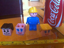 StickleBricks Stickle Bricks Rare Face and Man Bundle Original Official Figure