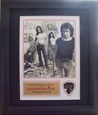 AC/DC Preprinted Autograph & Guitar Pick Display Mounted & Framed