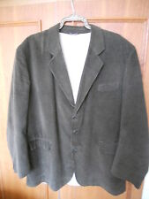 CASUAL CLUB OLIVE GREEN SINGLE BREASTED CORDUROY JACKET SIZE XL CHEST UP TO 50""