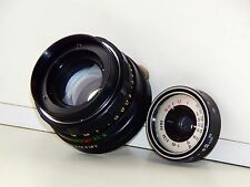 2 lenses one lot T-43 for SMENA and HELIOS-44M 2/58mm Russian SLR lens  M42
