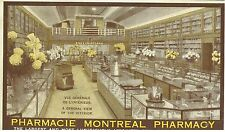 1900s Advertisingr Postcard Motreal Pharmacy Canada