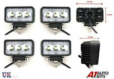 4 PCS 9W 10-30V 3 LED WORK FLOOD BEAM LAMPS NEW HOLLAND MASSEY FERGUSON JCB