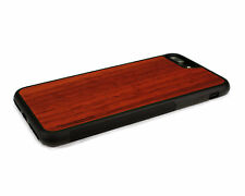 Real Wood iPhone 7 Plus Case with Soft Rubber Sides by Nuwoods, Padauk