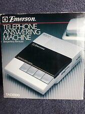 Vintage Emerson Telephone Answering Machine, Beeperless Remote, TAD8100,New
