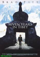 "MOVIE POSTER~Seven Years In Tibet 1997 27x40"" Original Film Sheet Brad Pitt 1~63"