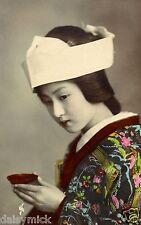 Geisha Girl Japanese Japan Woman Far East  12x8 Inch Photograph