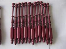 """12x bobbin lace bobbins 4.5"""" square in Purple Heart that do not roll on pillow"""