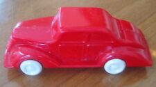 Vintage 1950s pencil sharpener, red plastic car auto, Germany