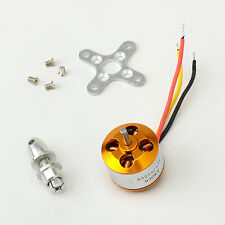 Brushless Outrunner Motor 15T Gear w/ Prop Adapter A2212 930KV For RC Airplane