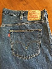 Levi's 505 Mens Medium Wash Regular Fit Jeans 46 X 30 Velcro Fly Closure